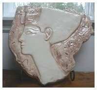 egyptian wall plaque art sculpture