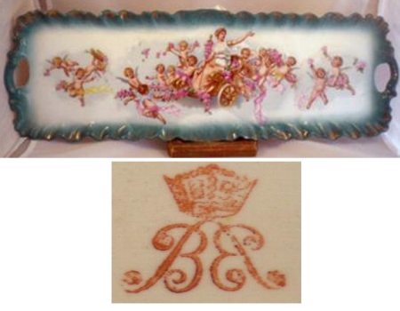 Crown B B pottery mark