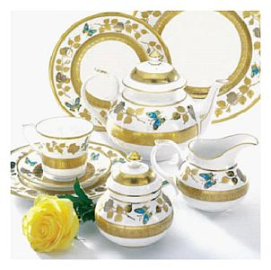 Roses and Butterflies from Caverswall fine Bone China
