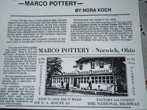 marco pottery