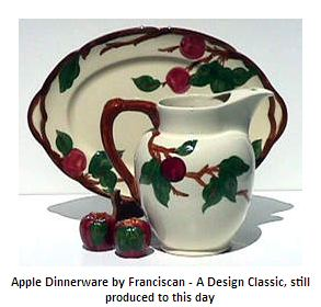 franciscan pottery apple pattern