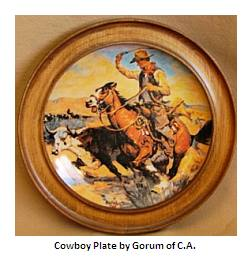 Gorham China Cowboy plate