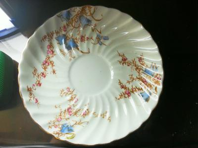 Old  saucer from a  Cumbrian tea set