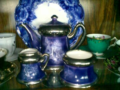 Antique & Fine China Collectibles Query - Blue Crown over an