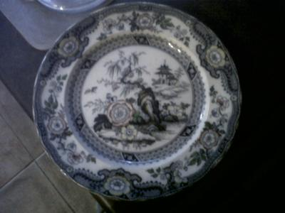 & Antique plates \