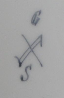Antique Vase with Cryptic G S mark and Crossed Lines