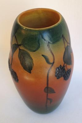 Art Pottery Raspberry Vase