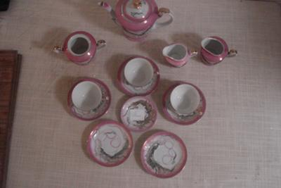 Asian Tea Set (Chinese/Taiwanese) with 'Rabbit' Pottery Mark Stamp