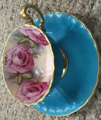 aynsley hand painted cup and saucer value