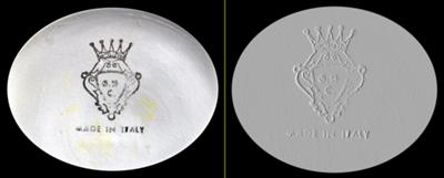 Back Stamp Query - 'Italy' Capo-di-Monte Trinket Box crown pottery mark with letters GNC inside a diamond