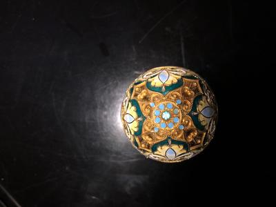 top Russian silver and cloisonne enameled egg