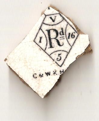 C & W & H Pottery Mark found on the