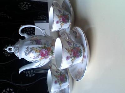 Cabinet Tea Set with no pottery mark apart from
