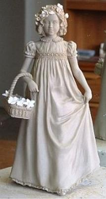 Ceramic Sculpture - Folds Technique<br>'Little Flower Girl' by Peter Holland<br>for Royal Worcester