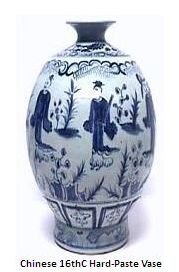 China Vase mid 16th Century