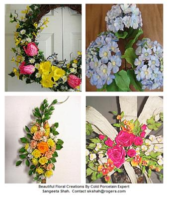 Beautiful Floral Creations by Cold Porcelain Expert Sangeeta Shah