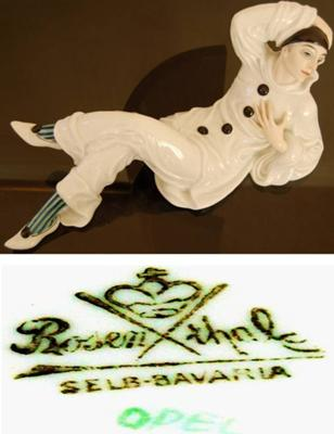 Collectible Figurines -  Rosenthal Reclining Pierrot