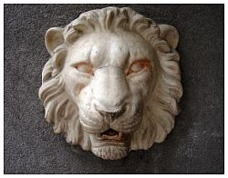 lion plaque art sculpture
