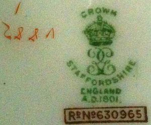 crown staffordshire pottery mark