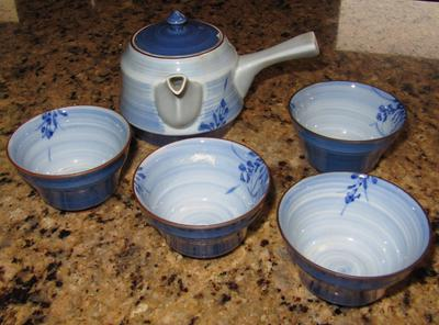 Japanese Blue Mark on Tea Set