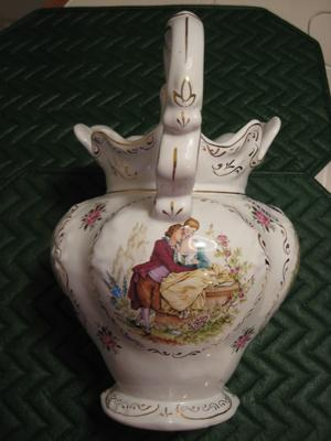 Decorative Pitcher with Watteau paintings Query - Pedder