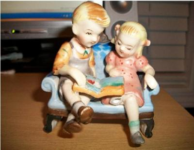 Dick and Jane Figurine? - With DC Pottery Mark on Base?