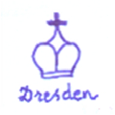Dresden Porcelain - Pottery Mark Query, typical Dresden Decorators Blue Crown