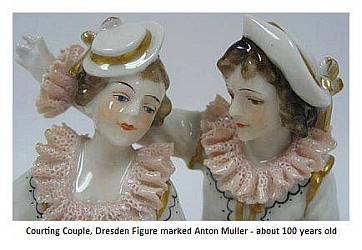courting couple Dresden Figurine