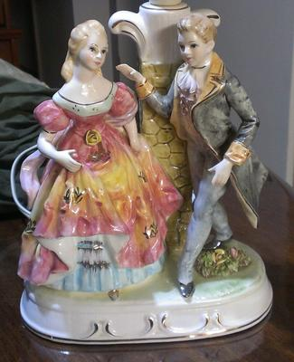My lovely bright coloured figurine lamp