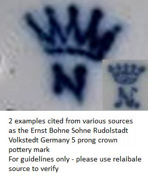 Ernst-Bohne-Sohne-Rudolstadt-Volkstedt-Germany-5-prong-crown-pottery-mark