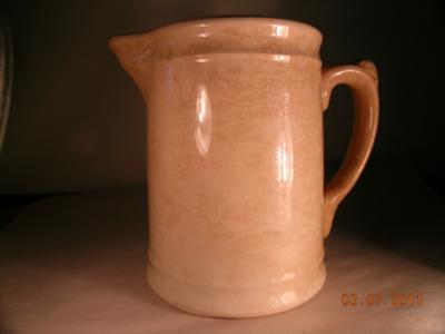 Famous Fiestaware Makers Homer Laughlin Circle Mark on Hotel Ware Pitcher