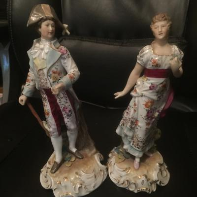 pair of continental figurines