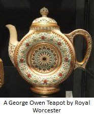 george owen teapot by royal worcester
