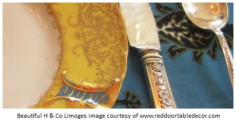 h and co limoges table-setting