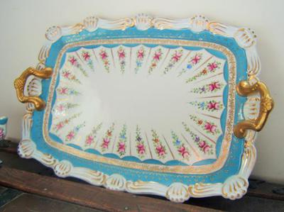 tray with gold handles