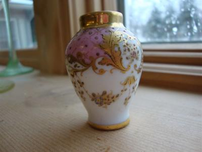 Identify Pottery Porcelain Mark Two Miniature Vases Dresden Or Not