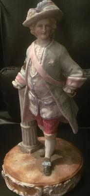 Large German Style figurine of a Man in Period Dress
