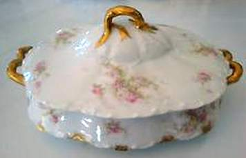 LDB Co lidded dish rose