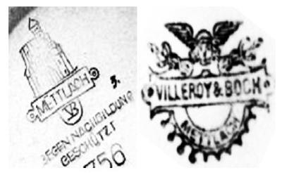 mettlach villeroy and boch v b history and pottery marks. Black Bedroom Furniture Sets. Home Design Ideas