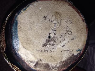 Japanese  oval impressed pottery mark stamp