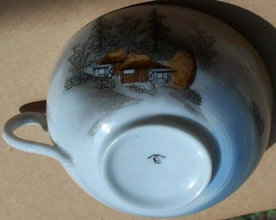 Unknown Pottery Mark Query -  Antique or Vintage China Tea set  WHAT in the world do I have here?