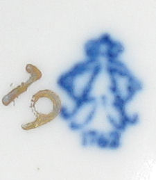 Pottery mark query - ballerina 1762 on stamp which looks like a capital 'A'