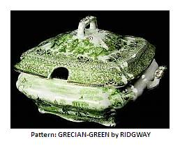 Ridgways gecian green pattern