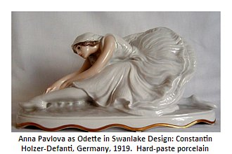 Rosenthal' Holzer-Defanti's figurine of Odette from Swan Lake