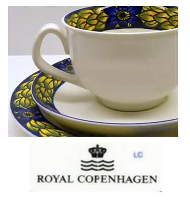 Royal Copenhagen - wavey mark