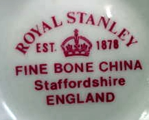Royal Stanley Fine Bone China, Staffordshire, England Pottery Mark Query