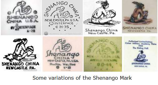 shanango-china-indian-marks-variations