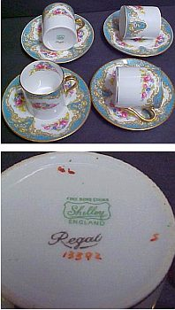 Shelley English Bone China Demitasse Cups - Worth Around $60 - $70 USD each