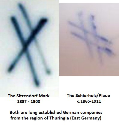 crossed lines marks