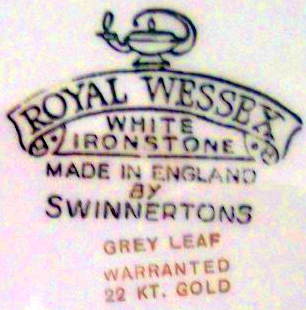 Swinnertons Royal Wessex China Ware  - Antique Bone China Query